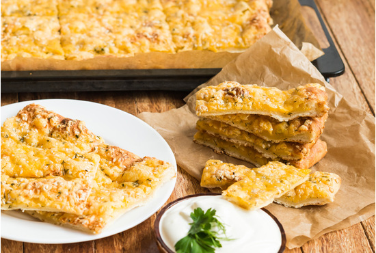Large cheese bread sticks