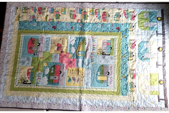 THE CAMPER QUILT 46 INCHES BY 71 INCHES