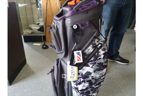 Sun Mountian womens golf bag purple camo
